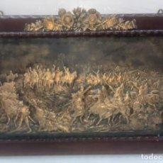 Varios objetos de Arte: GRAN PLACA DE BROCE ANTIGUA 1º ANIVERSARIO INDEPENDENCIA MEXICO EL GRITO DE IPIRANGA 80 X 53 CMS.. Lote 296800133