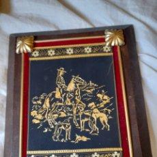 Varios objetos de Arte: BONITO CUADRO DAMASQUINADO. Lote 296816068