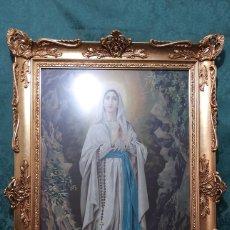 Varios objetos de Arte: CUADRO , VIRGEN DE LOURDES. Lote 297107128