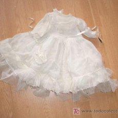 Vestidos Muñeca Española Clásica: ANTIGUO VESTIDO DE COMUNION PARA MUÑECAS. Lote 26759317
