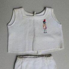 Vestidos Muñeca Española Clásica: TRAJECITO PIQUE ALGODON PARA MUÑECO BEBE ANTIGUO-VER TAMAÑO--- V I B. Lote 23450671