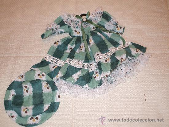 VESTIDITO CON PAMELA (Juguetes - Vestidos y Accesorios Muñeca Española Clásica (Hasta 1960) )