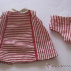 Vestidos Muñeca Española Clásica: VESTIDO EN VICHY CON BRAGUITA A JUEGO, DE MARIQUITA PEREZ AÑOS 50 . TIENE SU ETIQUITA. Lote 32068816