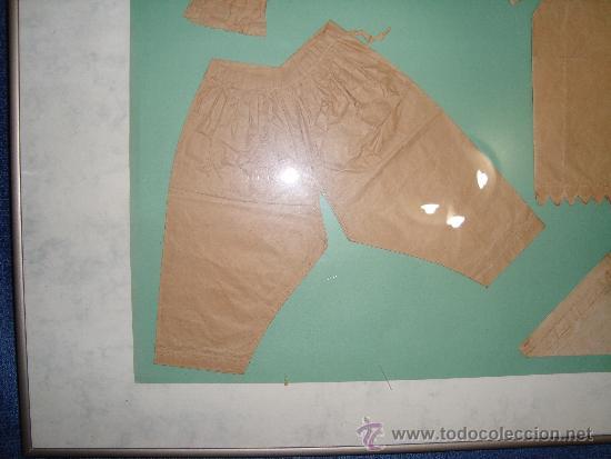 Vestidos Muñeca Española Clásica: PATRONES DE ROPA DE MUÑECAS SIGLO XIX, ENMARCADOS 60 x 81 cm. - Foto 2 - 36227264