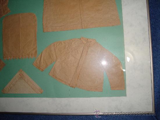 Vestidos Muñeca Española Clásica: PATRONES DE ROPA DE MUÑECAS SIGLO XIX, ENMARCADOS 60 x 81 cm. - Foto 5 - 36227264