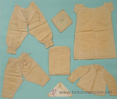 Vestidos Muñeca Española Clásica: PATRONES DE ROPA DE MUÑECAS SIGLO XIX, ENMARCADOS 60 x 81 cm. - Foto 7 - 36227264