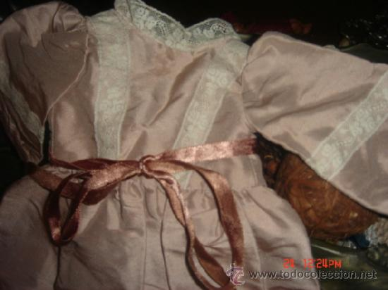 Vestidos Muñeca Española Clásica: VESTIDO PARA MUÑECA DE PORCELANA O CARTON PIEDRA,37LARGOX10 HOMBROX13X CINTURA13 MANGA X 60 VUELO - Foto 3 - 36869692