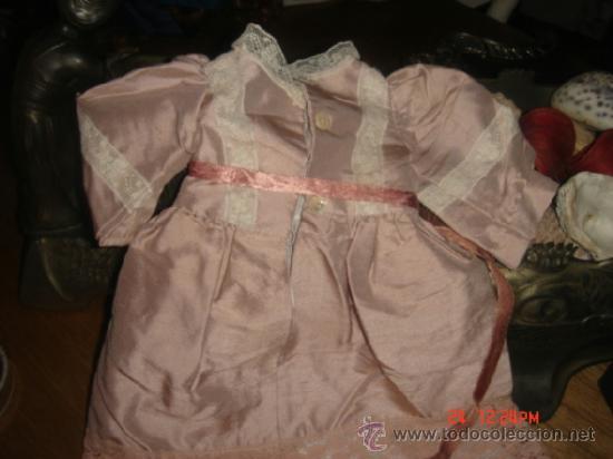 Vestidos Muñeca Española Clásica: VESTIDO PARA MUÑECA DE PORCELANA O CARTON PIEDRA,37LARGOX10 HOMBROX13X CINTURA13 MANGA X 60 VUELO - Foto 2 - 36869692