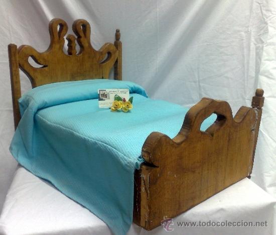 Antigua y bonita cama en madera para mu eca 55 comprar - Cama antigua de madera ...