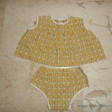 Vestidos Muñeca Española Clásica: PRECIOSO CONJUNTO PARA MUÑECA DE UNOS 50-60 CM 111-1. Lote 38877159