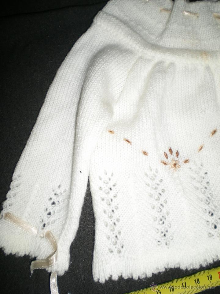 Vestidos Muñeca Española Clásica: preciosa rebeca lana tejida y bordada a mano muñecas grandes mariquita cayetana pierinas juanin - Foto 2 - 39510351