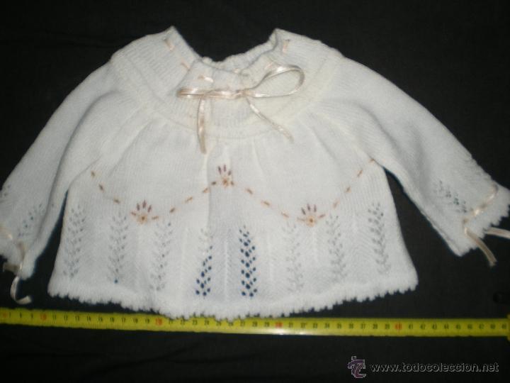 Vestidos Muñeca Española Clásica: preciosa rebeca lana tejida y bordada a mano muñecas grandes mariquita cayetana pierinas juanin - Foto 3 - 39510351
