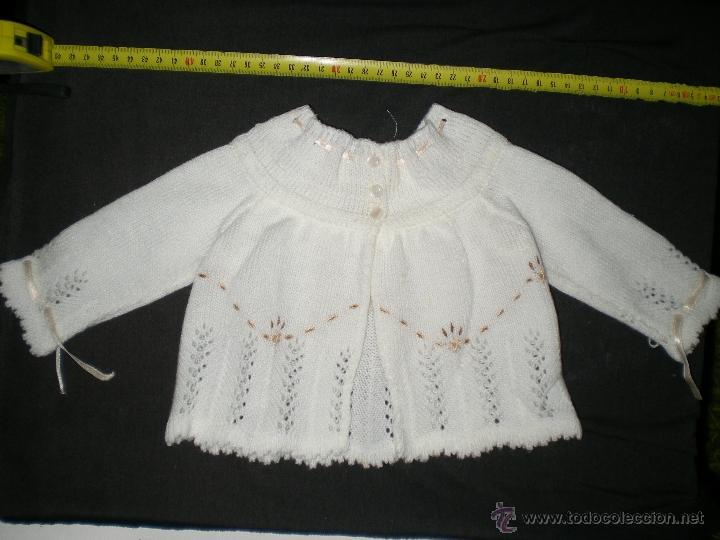 Vestidos Muñeca Española Clásica: preciosa rebeca lana tejida y bordada a mano muñecas grandes mariquita cayetana pierinas juanin - Foto 4 - 39510351
