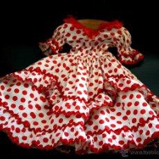 Vestidos Muñeca Española Clásica: VESTIDO INDUSTRIAL DE FLAMENCA PARA MUÑECA GRANDE - AÑOS 40-50. Lote 40968279