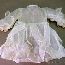 Vestidos Muñeca Española Clásica: ROPA DE MUÑECA CLASICA, VESTIDO DE ORGANZA, CON VUELOS. Lote 42740225
