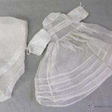 Vestidos Muñeca Española Clásica: VESTIDO PRIMERA COMUNIÓN MUÑECA MARIQUITA PÉREZ CON VELO AÑOS 50. Lote 44855844