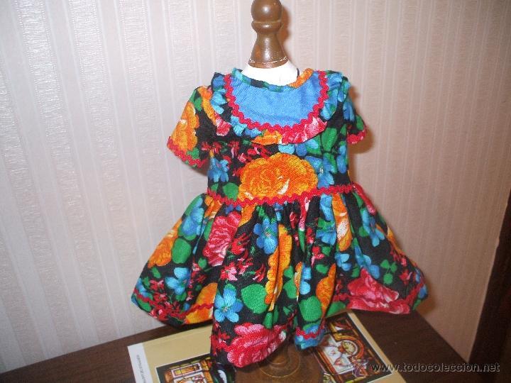VESTIDO DE MUÑECA CAYETANA . (Juguetes - Vestidos y Accesorios Muñeca Española Clásica (Hasta 1960) )