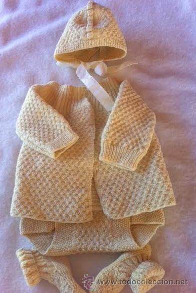 Vestidos Muñeca Española Clásica: Conjunto de punto antiguo, para muñeco tipo bebe Badalona o similar - Foto 2 - 46154609