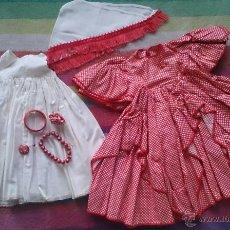 Vestidos Muñeca Española Clásica: VESTIDO REGIONAL ANDALUZA AÑOS 40, MARIQUITA PÉREZ GISELA. Lote 47834778