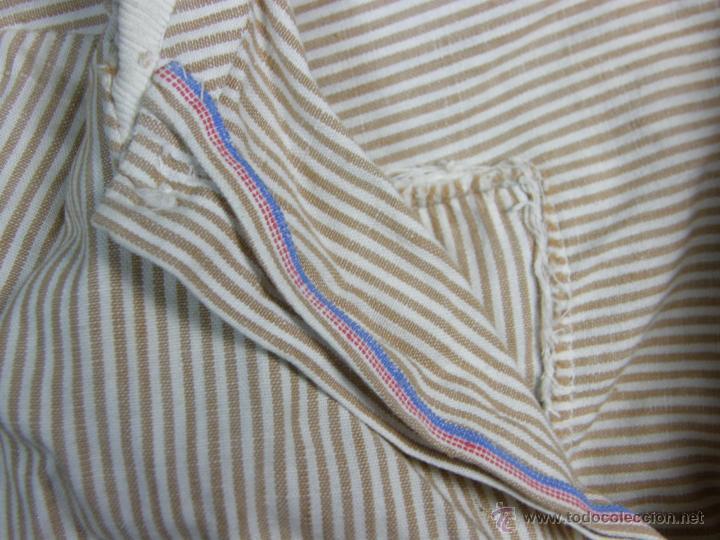 Vestidos Muñeca Española Clásica: camisa camisón delantal bebe rayas cosido mano mitad s XX 28x40cms - Foto 5 - 49737483