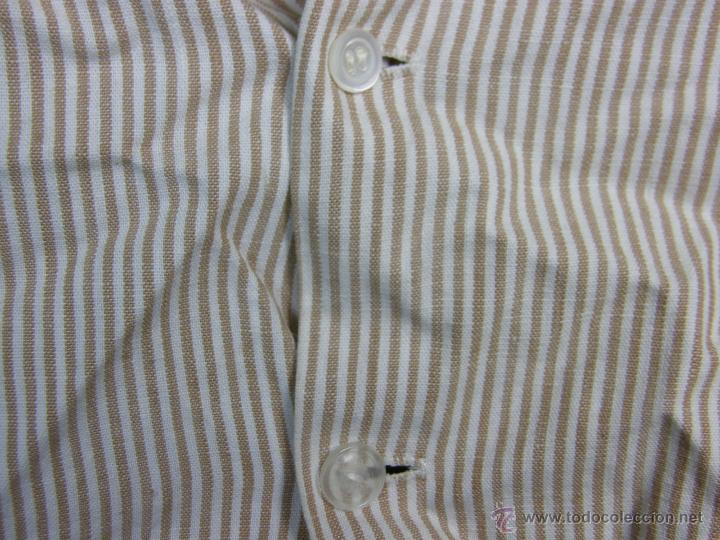 Vestidos Muñeca Española Clásica: camisa camisón delantal bebe rayas cosido mano mitad s XX 28x40cms - Foto 6 - 49737483