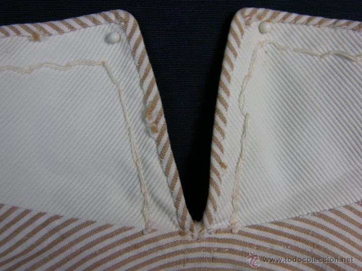 Vestidos Muñeca Española Clásica: camisa camisón delantal bebe rayas cosido mano mitad s XX 28x40cms - Foto 8 - 49737483