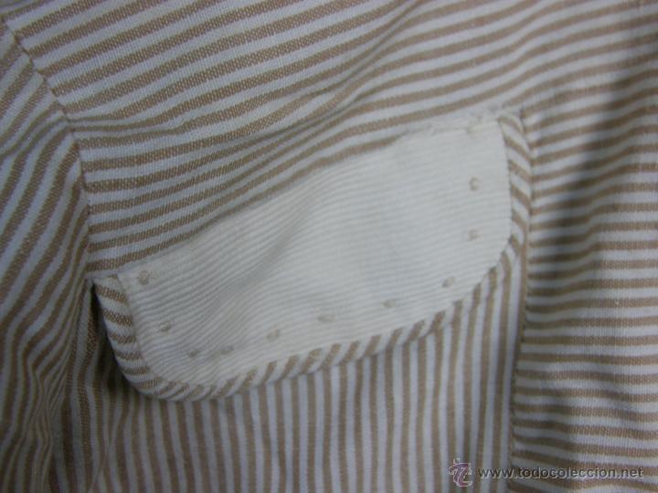 Vestidos Muñeca Española Clásica: camisa camisón delantal bebe rayas cosido mano mitad s XX 28x40cms - Foto 9 - 49737483