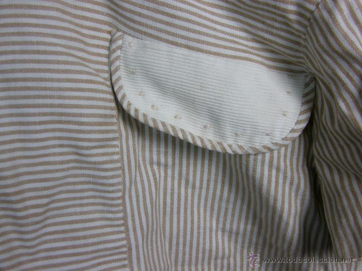 Vestidos Muñeca Española Clásica: camisa camisón delantal bebe rayas cosido mano mitad s XX 28x40cms - Foto 10 - 49737483