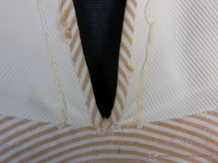 Vestidos Muñeca Española Clásica: camisa camisón delantal bebe rayas cosido mano mitad s XX 28x40cms - Foto 11 - 49737483