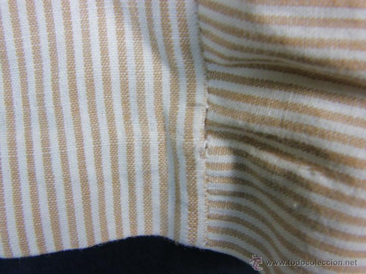 Vestidos Muñeca Española Clásica: camisa camisón delantal bebe rayas cosido mano mitad s XX 28x40cms - Foto 12 - 49737483
