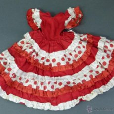 Vestidos Muñeca Española Clásica: VESTIDO FLAMENCA SEVILLANA GITANA MARIQUITA PÉREZ CON ETIQUETA AÑOS 50. Lote 50914479