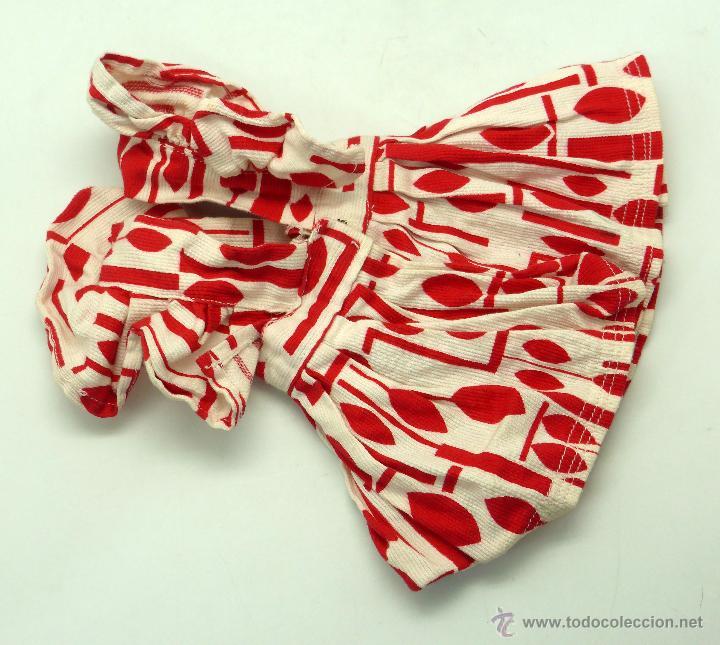 Vestidos Muñeca Española Clásica: Vestido verano estampado rojo Mariquita Pérez años 50 - Foto 2 - 50914934