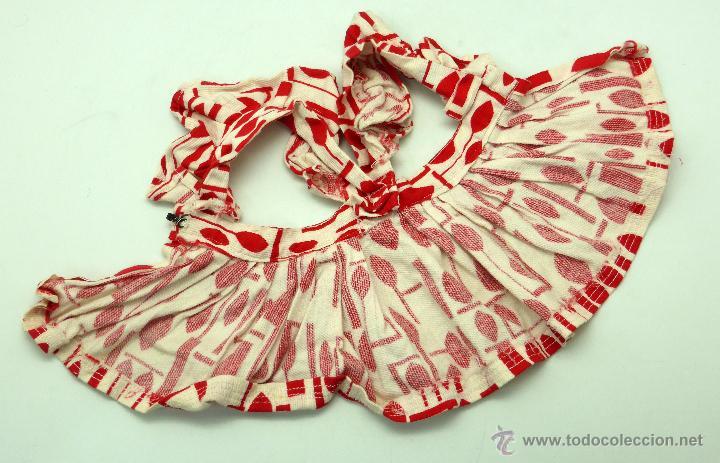 Vestidos Muñeca Española Clásica: Vestido verano estampado rojo Mariquita Pérez años 50 - Foto 3 - 50914934