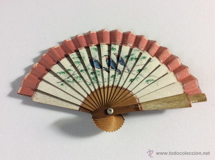 ABANICO MUÑECA ANTIGUO. (Juguetes - Vestidos y Accesorios Muñeca Española Clásica (Hasta 1960) )