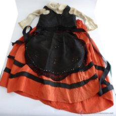 Vestidos Muñeca Española Clásica: VESTIDO ANTIGUO MUÑECA GRANDE 85-90 . Lote 52650753