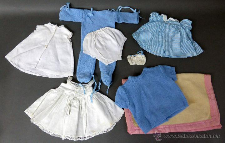 Vestidos Muñeca Española Clásica: 7 prendas muñeca muñeco años 50 pelele vestidos manta baby - Foto 2 - 55029774