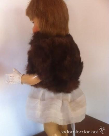 Vestidos Muñeca Española Clásica: Antiguo chaquetón piel, venia con un lote de Mariquita Perez años 40 - Foto 2 - 56042407
