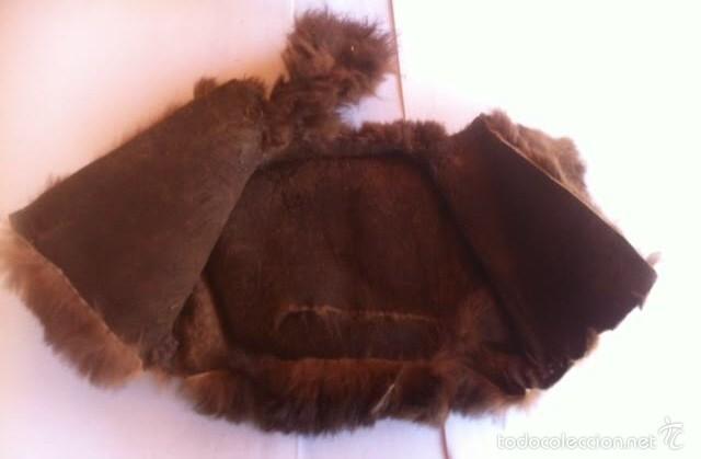 Vestidos Muñeca Española Clásica: Antiguo chaquetón piel, venia con un lote de Mariquita Perez años 40 - Foto 5 - 56042407