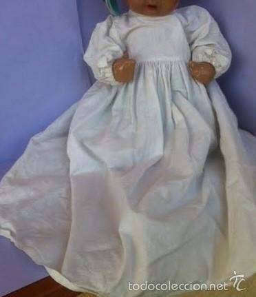 ANTIGUO BATÓN AÑOS 40 , PARA JUANÍN BEBE O SIMILAR (Juguetes - Vestidos y Accesorios Muñeca Española Clásica (Hasta 1960) )