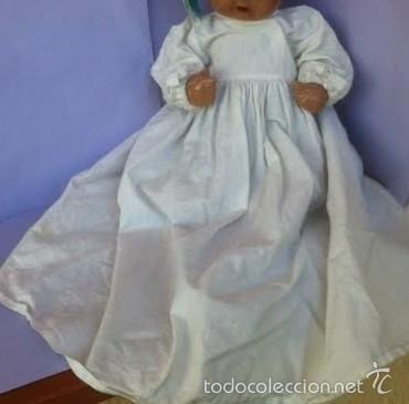 Vestidos Muñeca Española Clásica: Antiguo batón años 40 , para Juanín bebe o similar - Foto 3 - 56082648