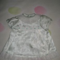 Vestidos Muñeca Española Clásica: BONITO VESTIDO ANTIGUO PARA MUÑECAS GRANDES RESTOS DE FABRICA. Lote 56671576