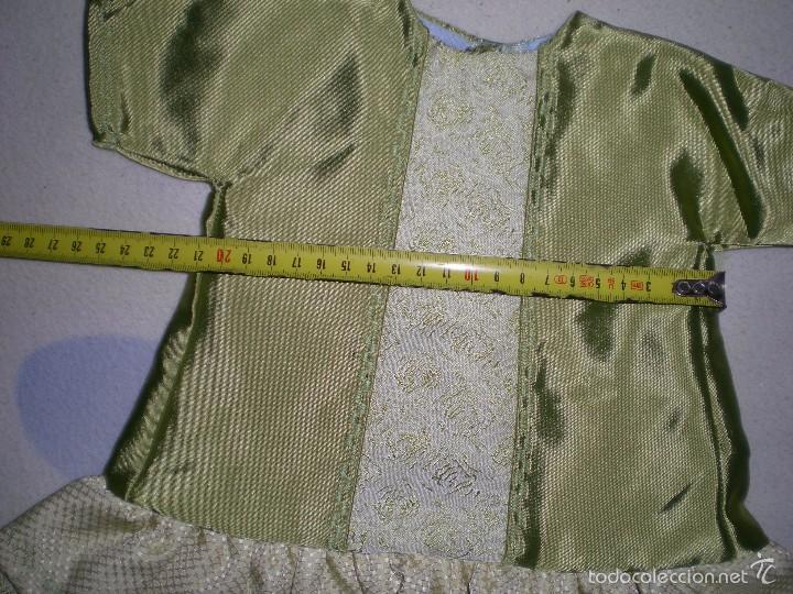 Vestidos Muñeca Española Clásica: bonito vestido antiguo para muñecas grandes restos de fabrica - Foto 3 - 56671644
