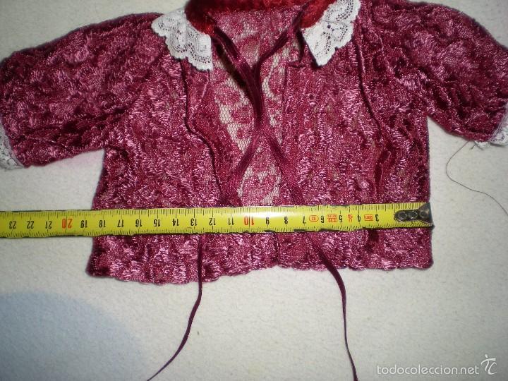 Vestidos Muñeca Española Clásica: bonita rebeca antigua para muñecas grandes restos de fabrica - Foto 2 - 56673025