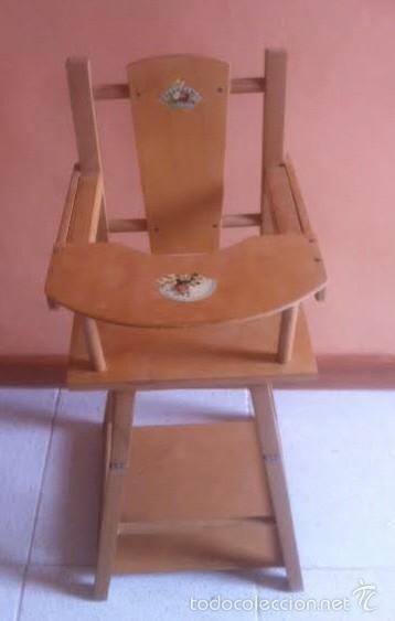 Vestidos Muñeca Española Clásica: Trona para muñeca o bebe muñeco. , silla ,se convierte en mesa - Foto 2 - 57763390