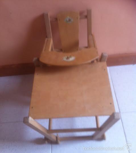 Vestidos Muñeca Española Clásica: Trona para muñeca o bebe muñeco. , silla ,se convierte en mesa - Foto 3 - 57763390