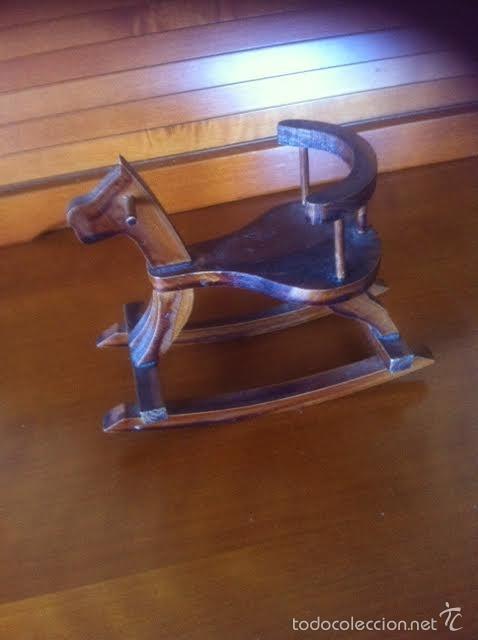 Vestidos Muñeca Española Clásica: caballo caballito balancin de madera ,accesorio muñecas - Foto 2 - 58538128