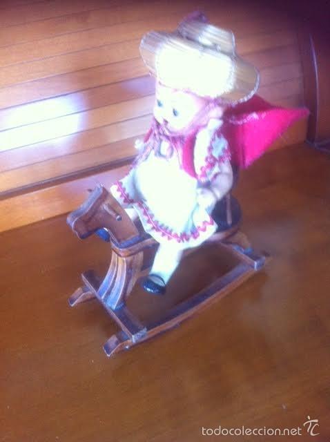 Vestidos Muñeca Española Clásica: caballo caballito balancin de madera ,accesorio muñecas - Foto 3 - 58538128