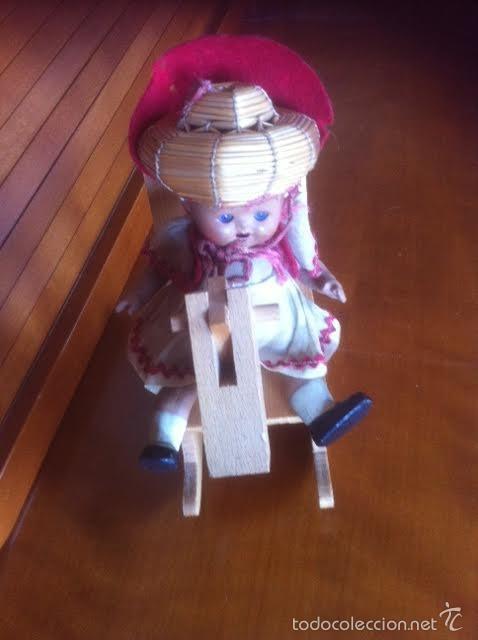 Vestidos Muñeca Española Clásica: caballo artesania caballito balancin de madera años 60 ,accesorio muñecas antiguas - Foto 2 - 58932530