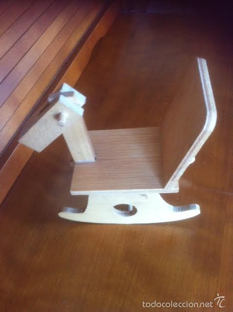 Vestidos Muñeca Española Clásica: caballo artesania caballito balancin de madera años 60 ,accesorio muñecas antiguas - Foto 3 - 58932530