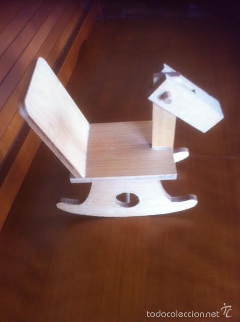 Vestidos Muñeca Española Clásica: caballo artesania caballito balancin de madera años 60 ,accesorio muñecas antiguas - Foto 5 - 58932530